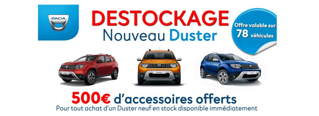 DESTOCKAGE NOUVEAU DUSTER