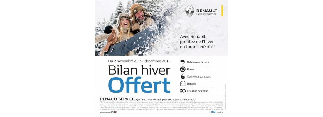 BILAN HIVER OFFERTCHEZ RENAULT AUTO DAUPHINE