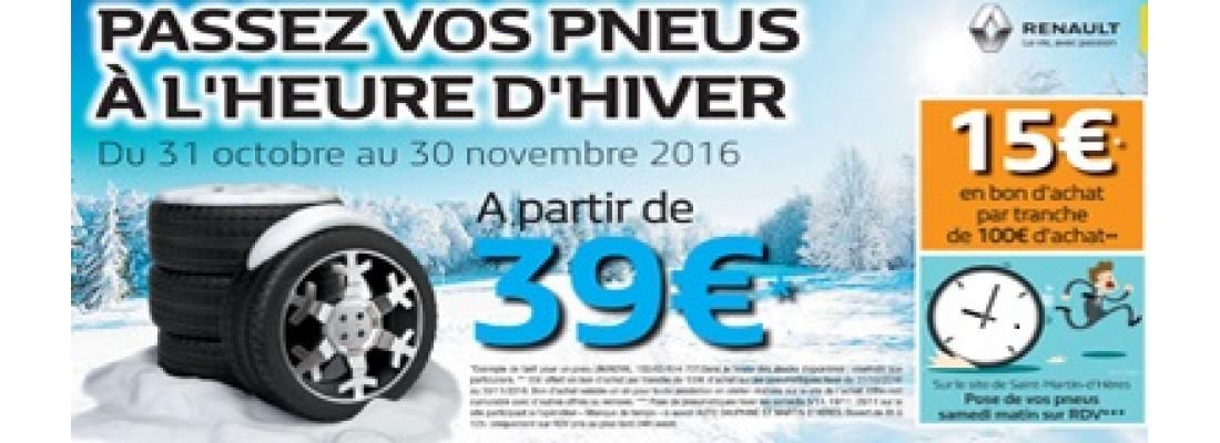 Passez vos pneus à l'heure d'hiver